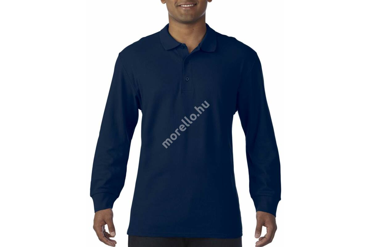 GILDAN PREMIUM COTTON ADULT LONG SLEEVE DOUBLE PIQUÉ POLO - GI85900 ... e3c899c815