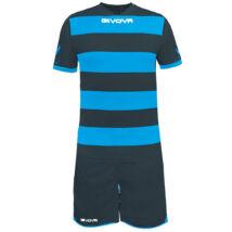Rugby Mez+Nadrág, sötétszürke-türkiz