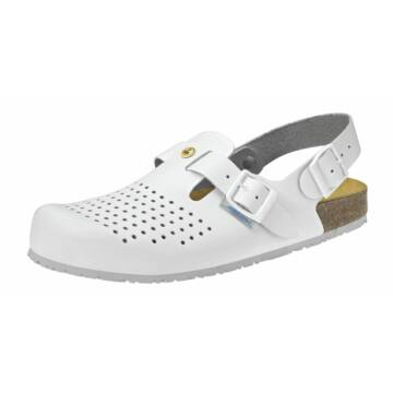 4050 ABEBA-NATURE Ob, Src ESD Munkavédelmi fixpántos fehér papucs 34-48