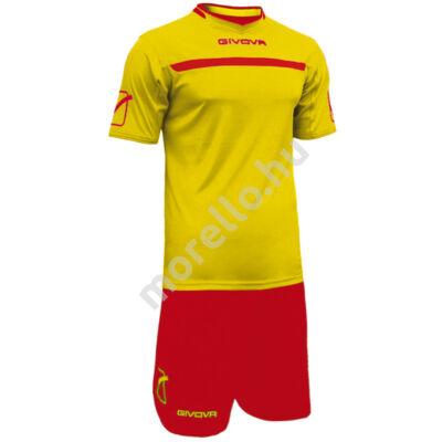 Givova One Mez+Nadrág, sárga-piros
