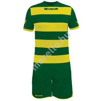 Rugby Mez+Nadrág, sötétzöld-sárga