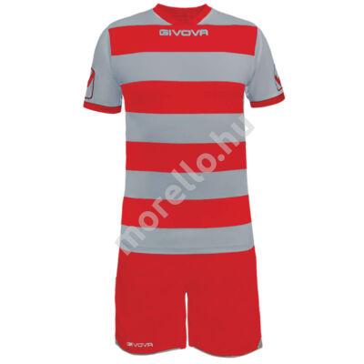 Rugby Mez+Nadrág, világosszürke-piros