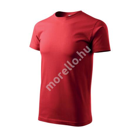 Basic pólók férfi piros M
