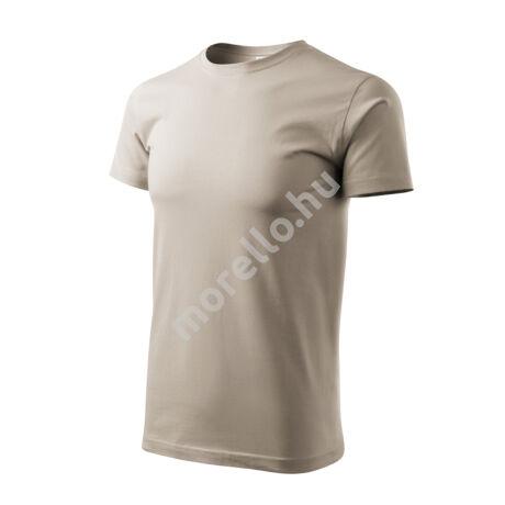 Basic pólók férfi drappos szürke S