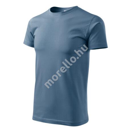 Basic pólók férfi farmerkék XL