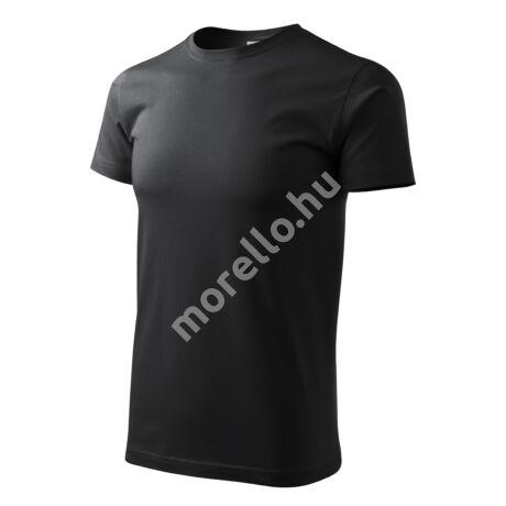 Basic pólók férfi ébenszürke L