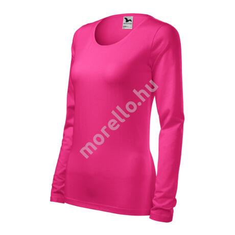Slim pólók női bíborszín XS