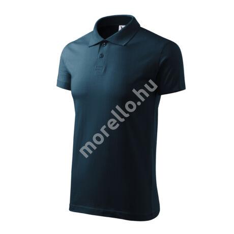 Single J. galléros póló férfi tengerészkék 3XL