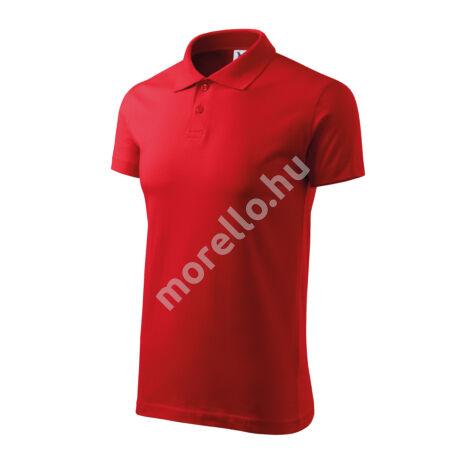 Single J. galléros póló férfi piros 3XL