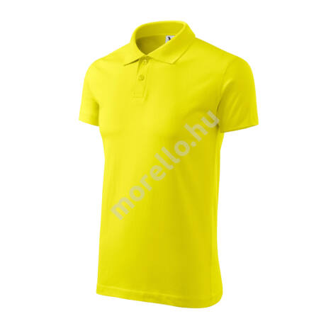 Single J. galléros póló férfi citrom M