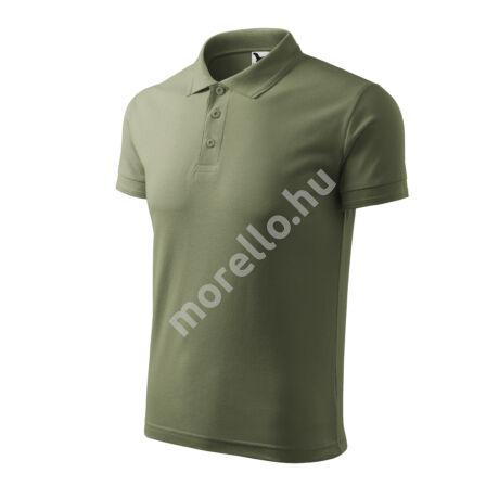 Pique Polo galléros póló férfi khaki 4XL
