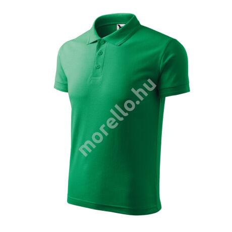 Pique Polo galléros póló férfi fűzöld 3XL