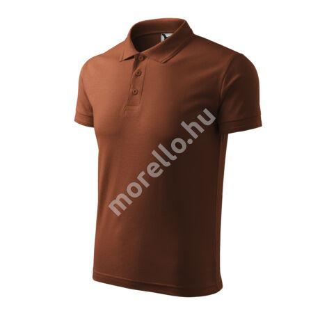Pique Polo galléros póló férfi csokoládébarna 3XL