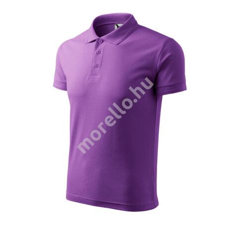 Pique Polo galléros póló férfi lila 3XL