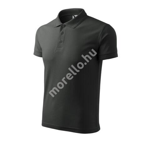 Pique Polo galléros póló férfi sötét palakő XL