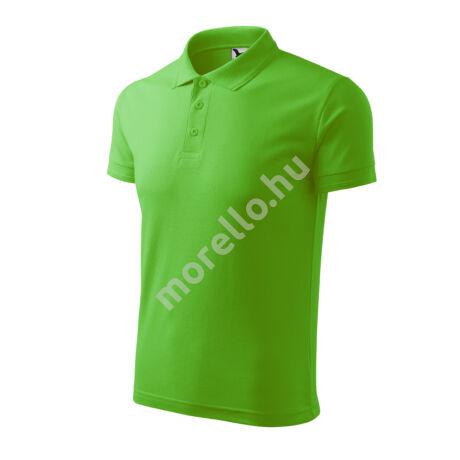Pique Polo galléros póló férfi almazöld XL