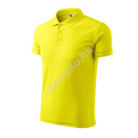 Pique Polo galléros póló férfi citrom S
