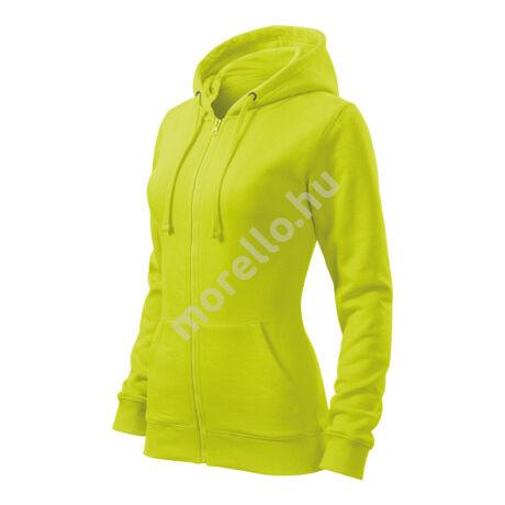 Trendy Zipper felső női lime XS