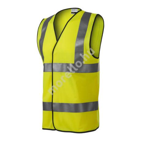HV Bright biztonsági mellény unisex fényvisszaverő sárga M