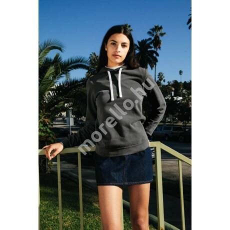 WomenˊS French Terry Garment Dyed Mid-Length Hoodie