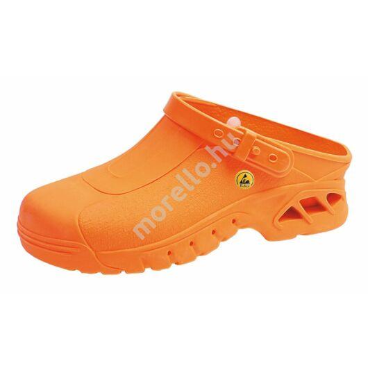 39630 ABEBA-AUTOCLAVABLE CLOGS Ob, Src Esd narancssárga Munkavédelmi Papucs 36-46