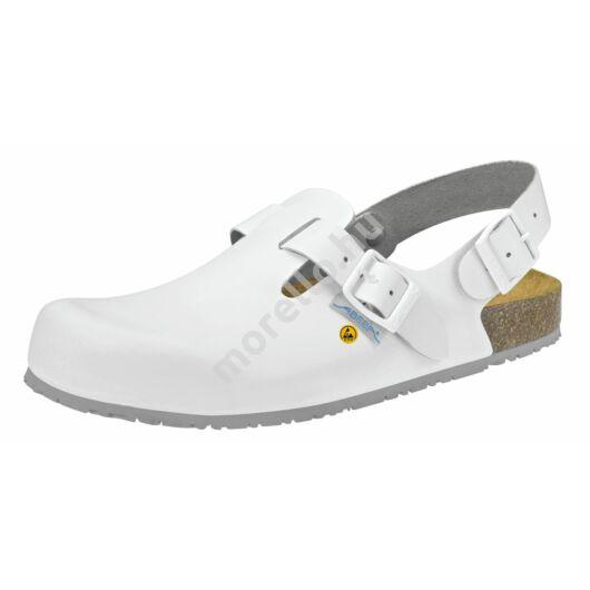 4040 ABEBA-NATURE Ob, Src ESD Munkavédelmi fixpántos fehér papucs 34-48