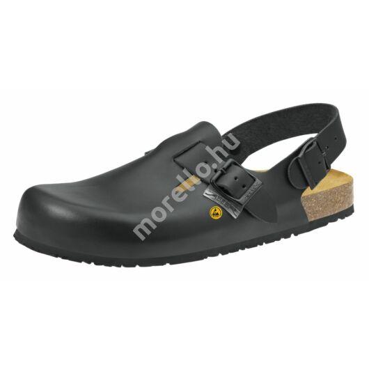4055 ABEBA-NATURE Ob, Src ESD Munkavédelmi fixpántos fekete papucs 34-48