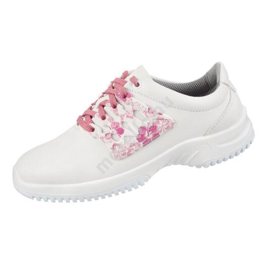 6766 ABEBA-UNI6 O2 Src virágmintás női fűzős Munkavédelmi Cipő 35-43