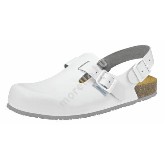 8040 ABEBA-NATURE Ob, Src Munkavédelmi fixpántos fehér papucs 34-48