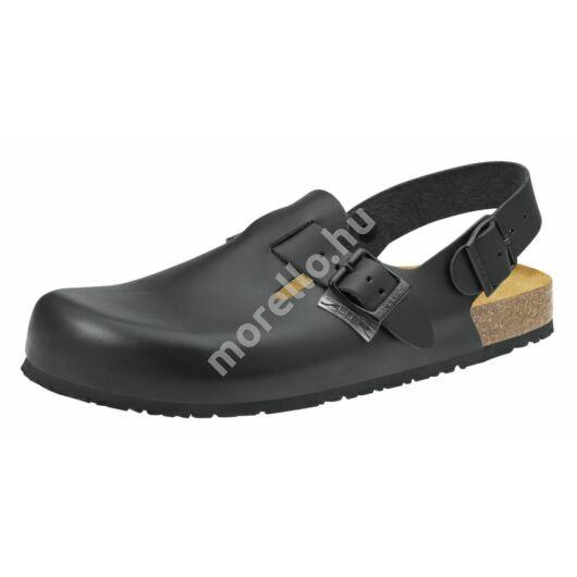 8040 ABEBA-NATURE Ob, Src Munkavédelmi fixpántos fekete papucs 34-48
