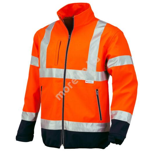 04512 Flash Jól láthatósági SOFTSHELL kabát