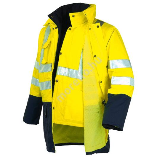 04631N HI VI jól láthatósági dupla színű három funkciós kabát