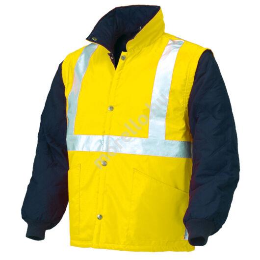 04648N Jól láthatósági levehető ujjú kabát