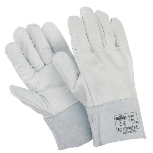 Színborjúbőr tenyér és a kézhát, borjúhasíték mandzsettával ellátott munkavédelmi kesztyű