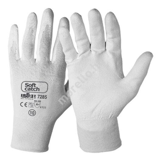 Soft Catch PU-ba mártott nylon kesztyű