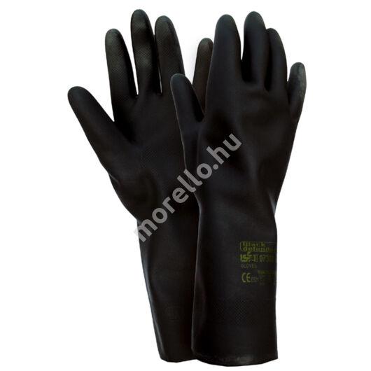 07300 BLACK DEFENDER pamutra mártott könnyű gumi/neoprén munkavédelmi kesztyű