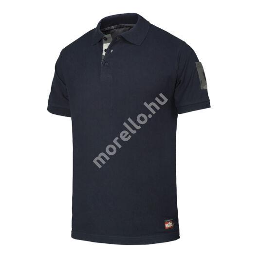 08187 Camu galléros piquet póló terepszínű betétekkel