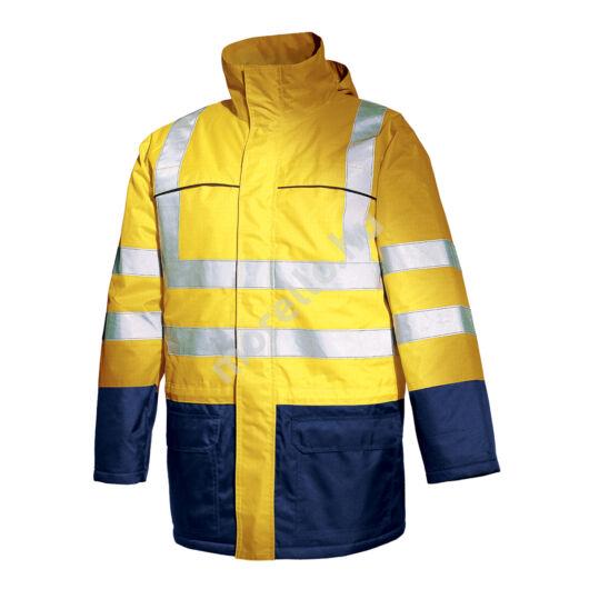 5090 ISSALINE M-PRO jól láthatósági lángálló bélelt kabát