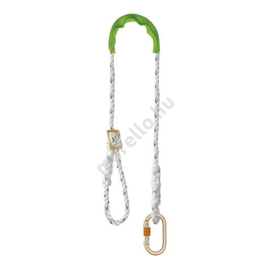 Akrobat Plus Positioning Lanyard With Protecting Covering Sleeve And Karabiner