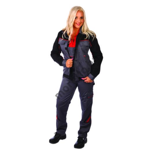 Highline női dzseki, szürke/fekete, 65%PES-35% pamut