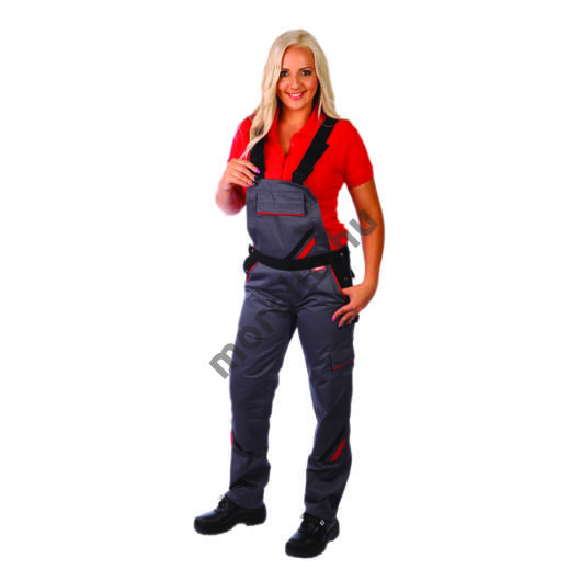 Highline női melles nadrág, szürke/fekete, 65%PES-35% pamut