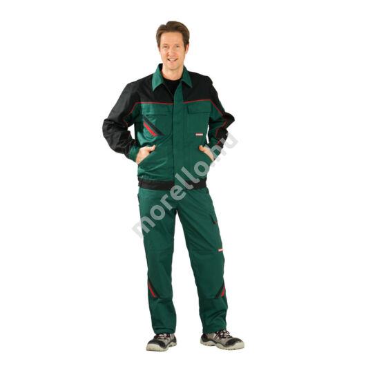 Highline dzseki, zöld/fekete/piros, 65% poliészter, 35% pamut