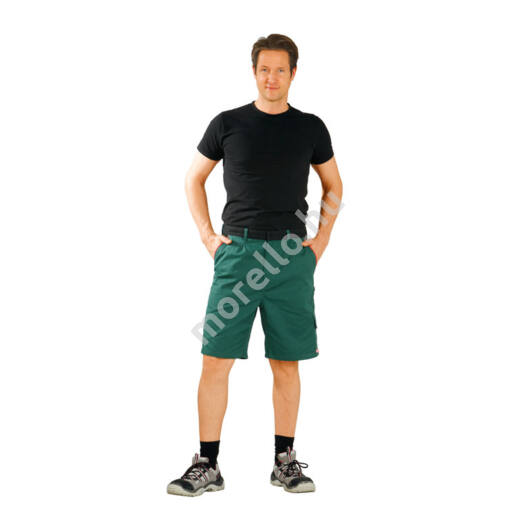 Highline rövidnadrág, zöld/fekete/piros, 65% poliészter, 35% pamut