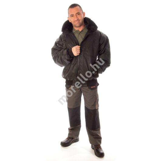 Rock pilóta dzseki, fekete