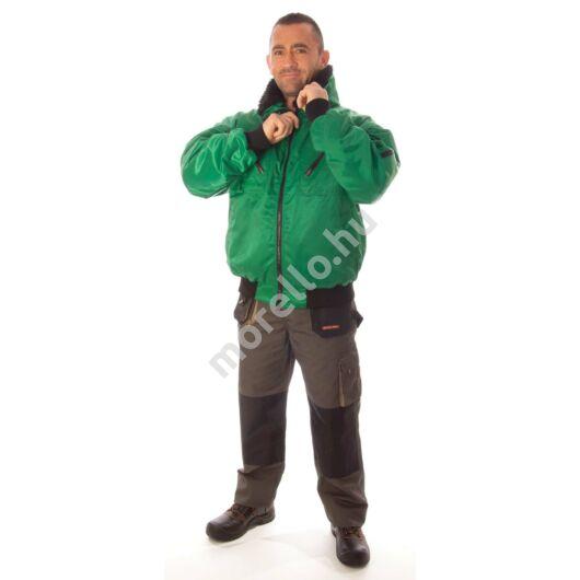 Rock pilóta dzseki, zöld, 2XL-es