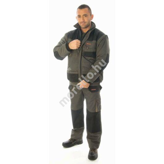 RockPro téli dzseki, olivazöld/khaki, levehető ujjal