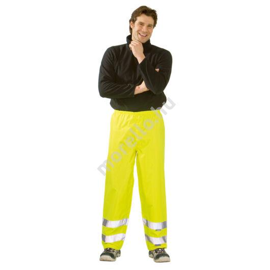 Jól láthatósági eső elleni derekas nadrág, sárga