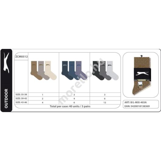 SLAZENGER ZCM0512 Outdoor zokni 3ppk